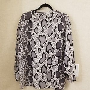 Amen Wardy Italy Fontana vintage 100% silk blouse